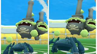 Pokemon Go -Galarian Weezing Raid Duo by Mewtwo & Metagross(no weather boost)(KO@15sec)(16/11/19 g2)