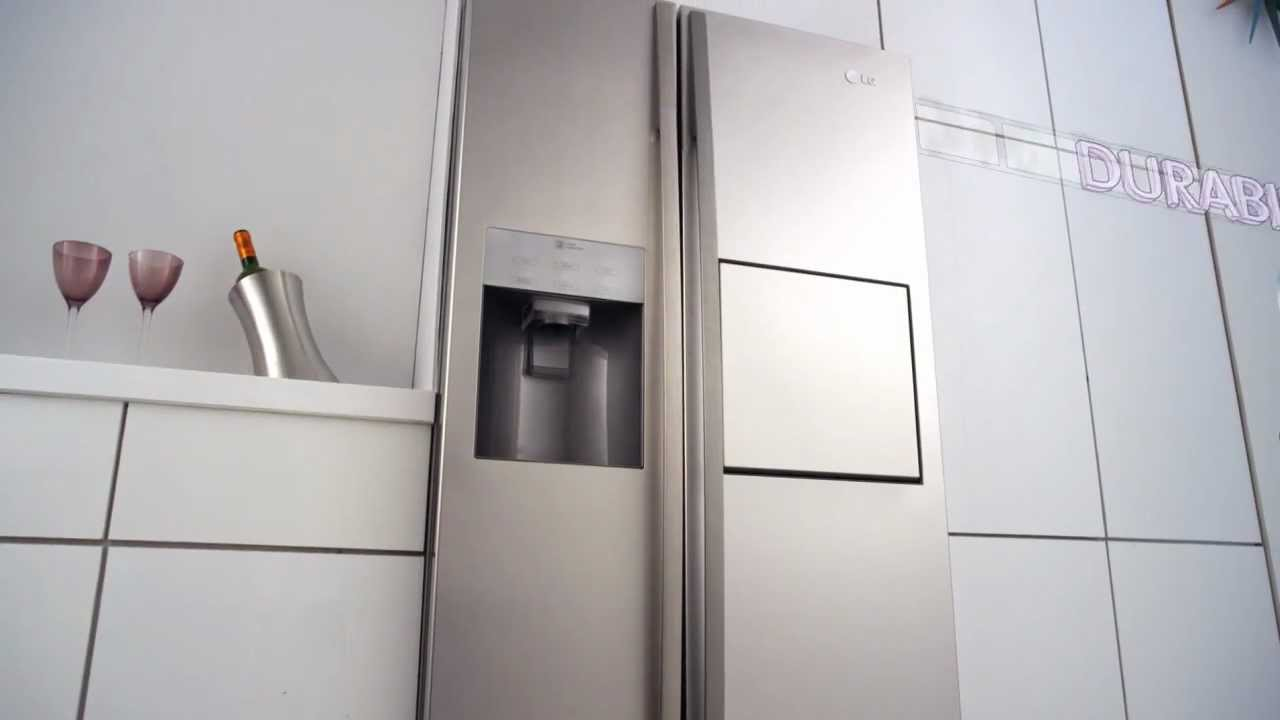 lg new side by side refrigerator youtube. Black Bedroom Furniture Sets. Home Design Ideas