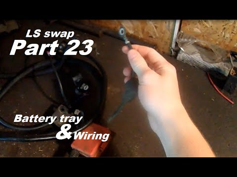 72 chevy ls swap part 23 battery tray, wiring , and starter 93 Chevy Truck Wiring Diagram