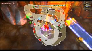 Repeat youtube video Dungeon Defenders - Volcanic Eruption NMHC Solo