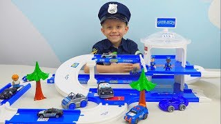 Policeman Danik and training base of police POLICEMAN MACHINES FOR CHILDREN