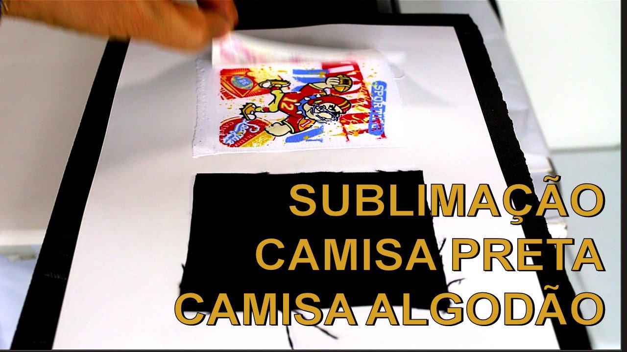 Sublimação em Camiseta Preta com ChromaFilm Parte 1 de 3 - Passo a Passo 22a13cea2aa66
