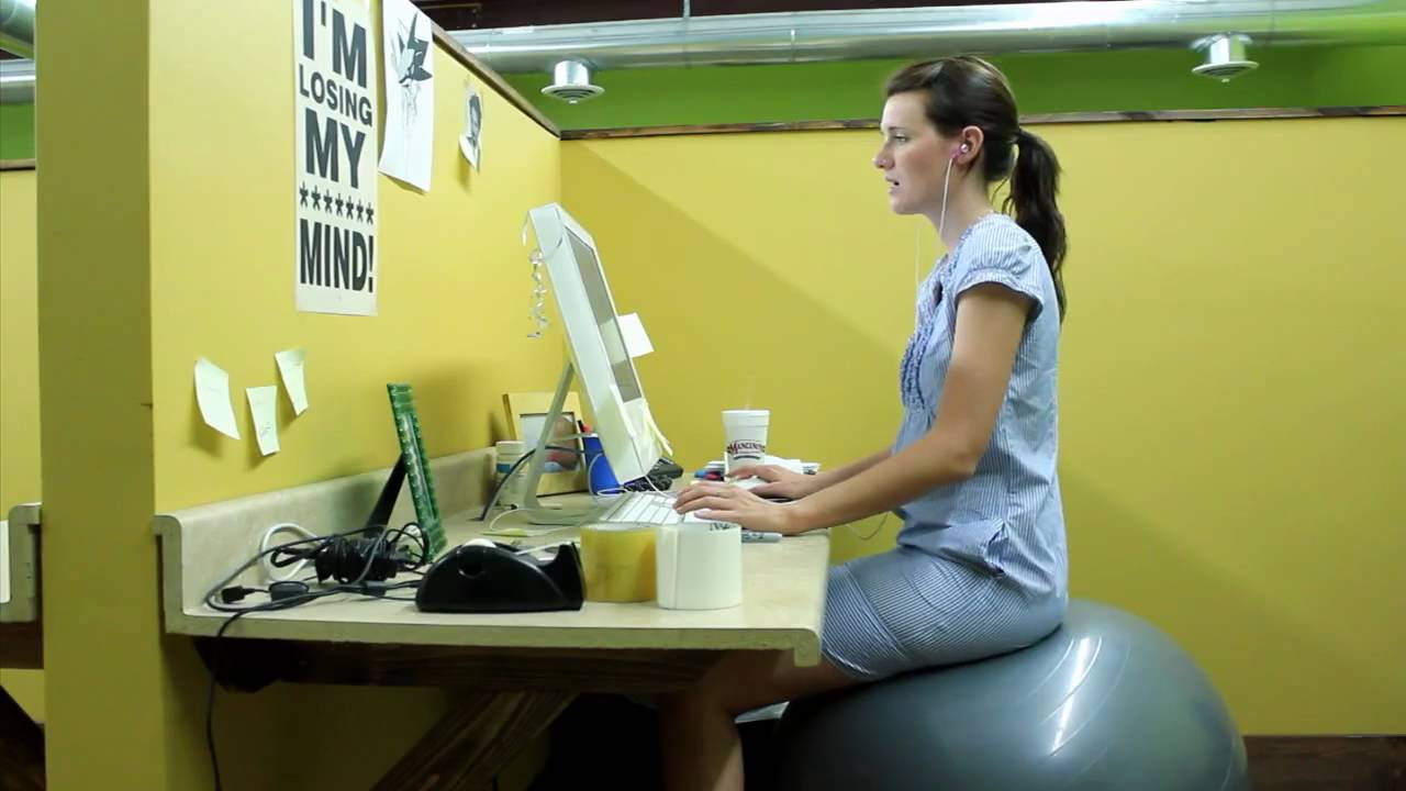 exercise ball vs office chair - youtube