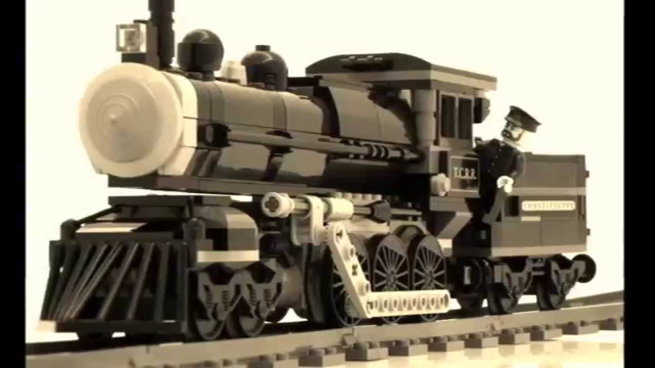 LEGO Lone Ranger modified + powered train V2 - 79111 - YouTube