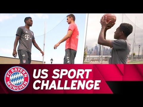 David Alaba & Sven Ulreich - US Sport Challenge   #AudiFCBTour