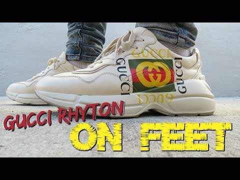 GUCCI RHYTON SNEAKERS ON FEET \u0026 IN DEPTH REVIEW , YouTube