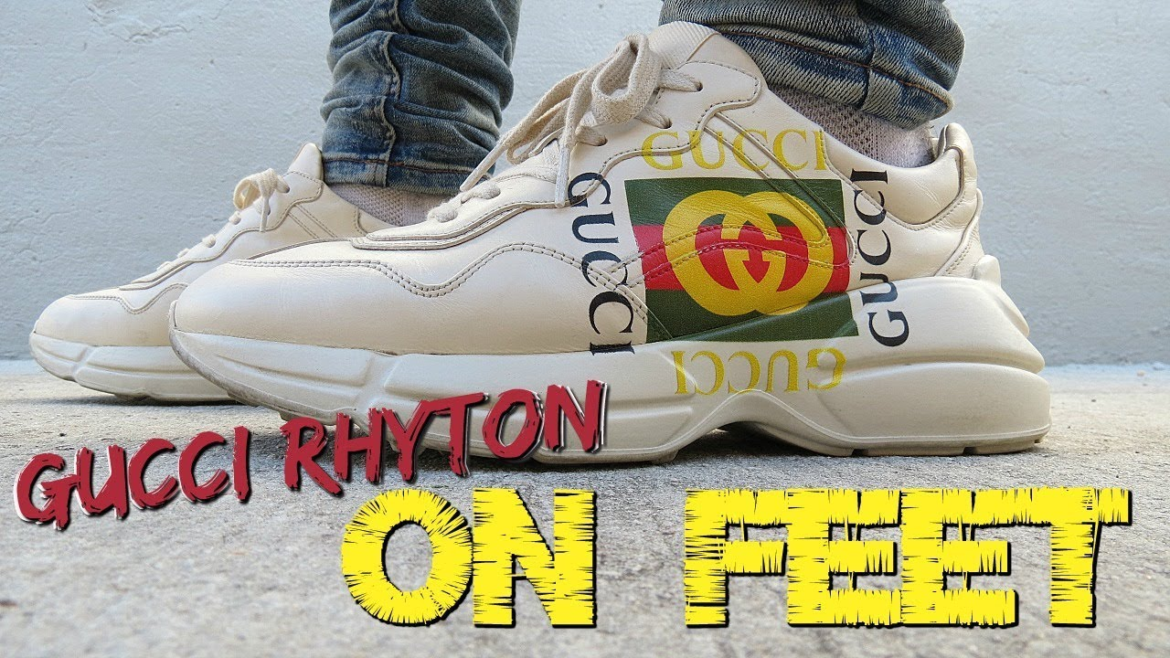 3205ca902fd GUCCI RHYTON SNEAKERS ON FEET   IN DEPTH REVIEW - YouTube