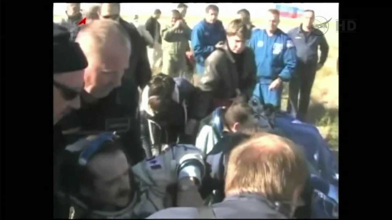 Expedition Made Successful Return From >> Chris Hadfield Returns To Earth Youtube