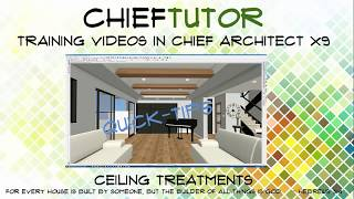 Making a Trey or Coffered Ceiling in Chief Architect
