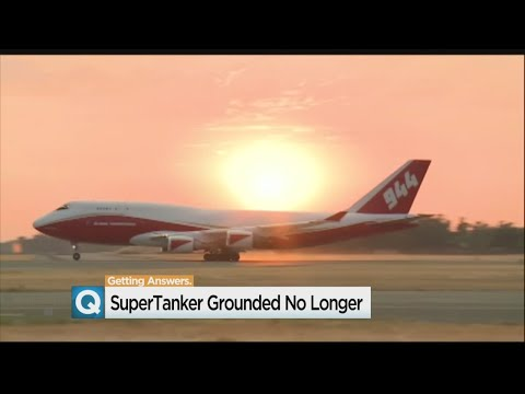 Converted 747 'Global Supertanker' Laying The Smackdown On California Fires