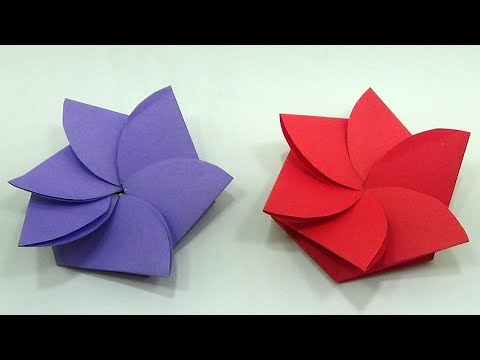 How to make diy easy mini greeting paper flower envelope card tutorial