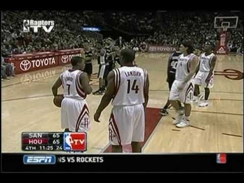 Luis Scola Pulls Udoka to the Ground by his Shorts After Spurs Free Throw