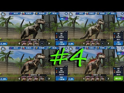 All carnivore dinosaurs at level 40 Jurassic World-The Game Ep 4