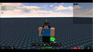 ROBLOX glitch with Energy Sword and Gravity Coil.