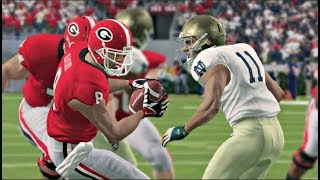Notre Dame Fighting Irish vs Georgia Bulldogs – NCAA Football 14 (2019 Updated Rosters) NCAA 9/21/19