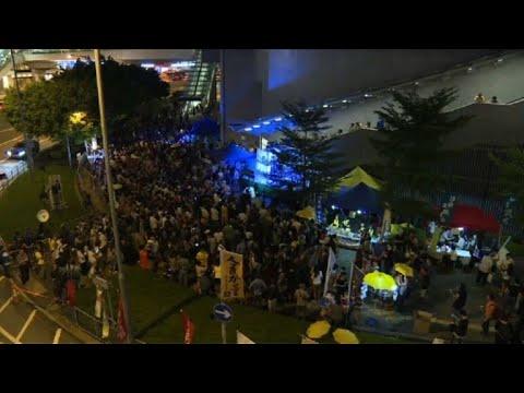 Hundreds mark third anniversary of Hong Kong's Umbrella Movement