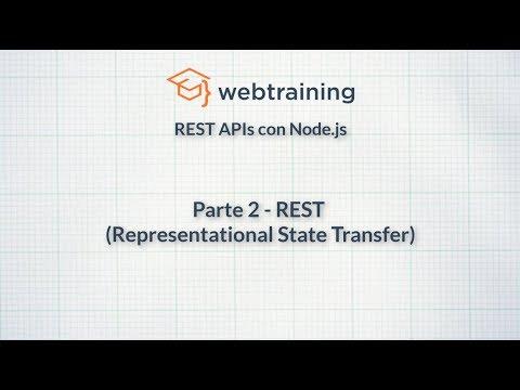 REST APIs con Node.js - Parte 2 (REST - Representational State Transfer)