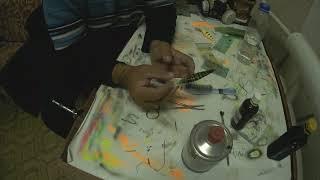 Покраска воблера с помощью ниток . Другие хитрости при покраске.