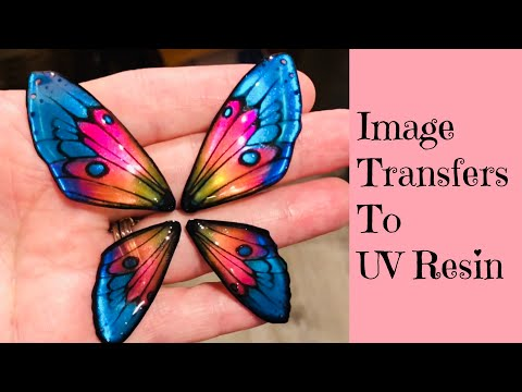 Image Transfer To UV Resin Tutorial Creating Butterfly Wings - Artist Collab with TurtleSoupBeads