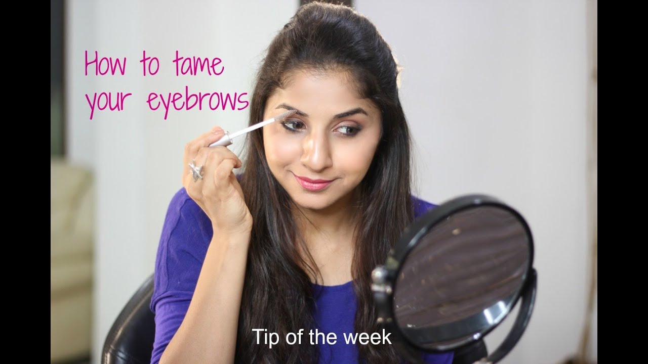 How to keep your eyebrows in place   Tip of the week - YouTube
