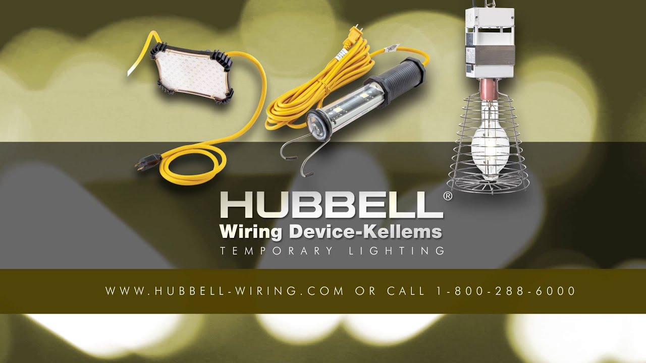 Wiring Device Kellems Temporary Industrial Construction Lighting Hubbell