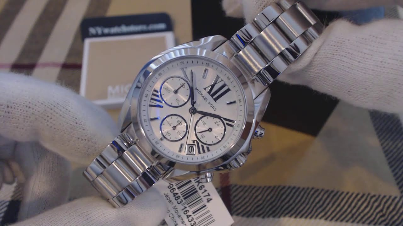 2c024f75c257 Women s Michael Kors Midsize Bradshaw Chronograph Watch MK6174 - YouTube
