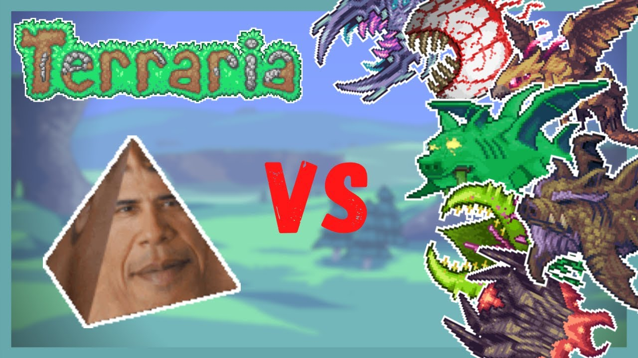 Obama Prism vs Terraria Bosses (W/Calamity, Ancients Awakened, Redemption.)