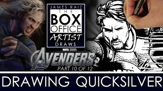 AVENGERS AGE OF ULTRON Part 10 of 12: DRAWING AARON TAYLOR-JOHNSON AS QUICKSILVER