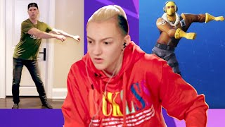 Backpack Kid Judges Fortnite 'Floss' Dances