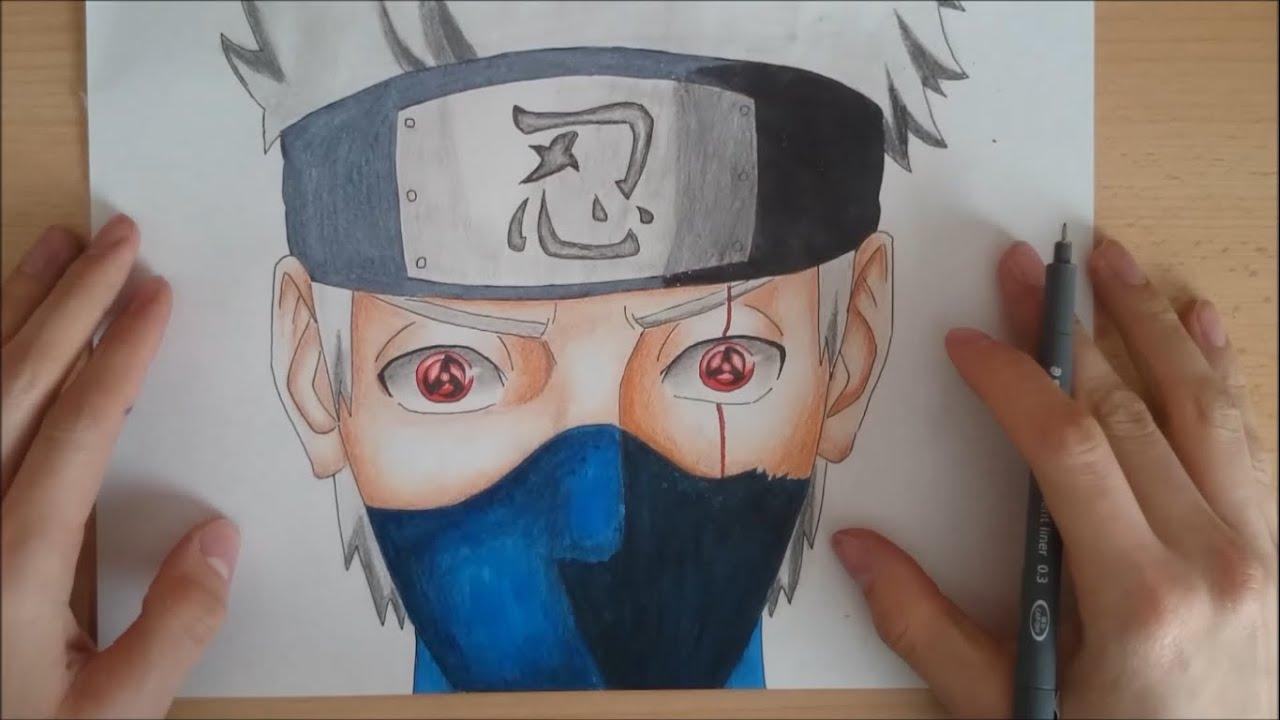 Kakashi Hatake Wallpaper 3d How To Draw Kakashi Both Sharingan Wie Zeichnet Man