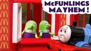 Funny Funlings McDonalds Drive Thru Mayhem with Thomas and Friends Toy Trains for kids TT4U
