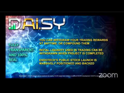 Daisy Webinar - What's Instore For Daisy And Endotech And The Launchpad. Exciting Times Ahead.