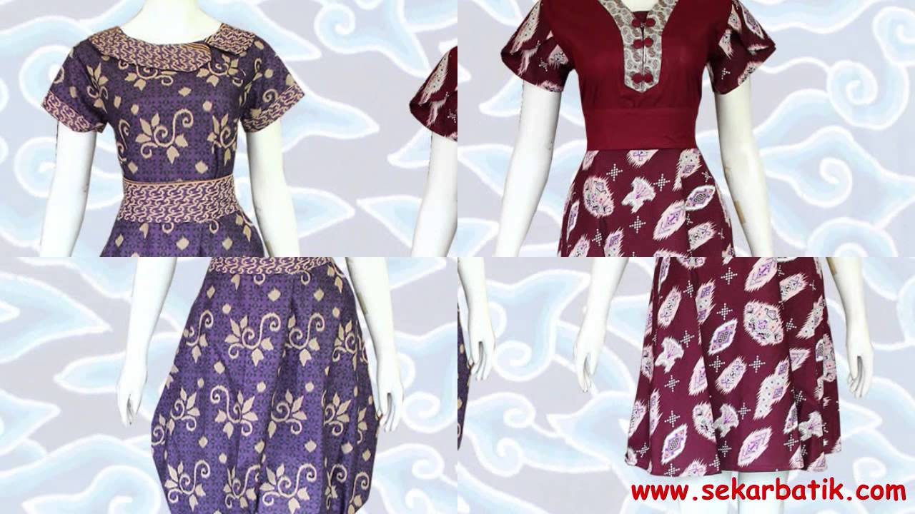 Model Dress Batik Modern Cantik Terbaru 2015