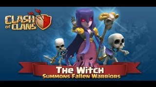 Clash Of Clans - x20 Witch + king + queen + x5 rage spell