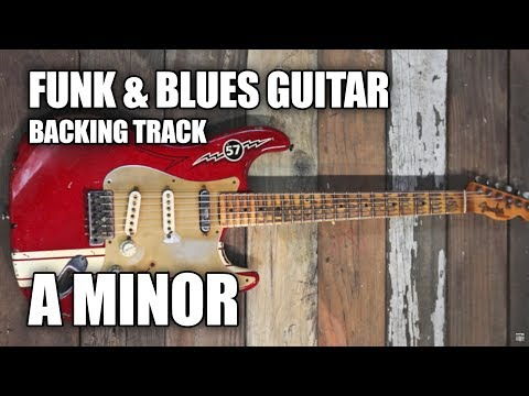 Funk & Blues Guitar Backing Track In A Minor
