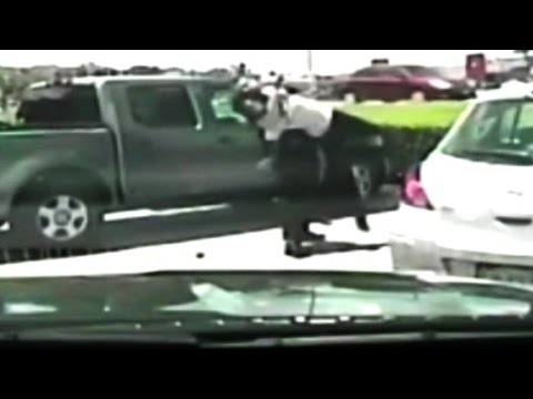 Violent arrest of woman caught on camera