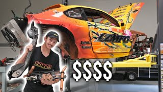 homepage tile video photo for Damage from my Big Crash + S15 Engine Bay Paint Reveal!