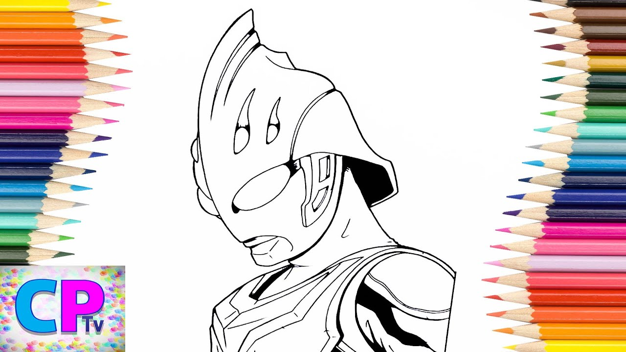 Ultraman Nexus Coloring Pages For Kids How To Color Ultraman