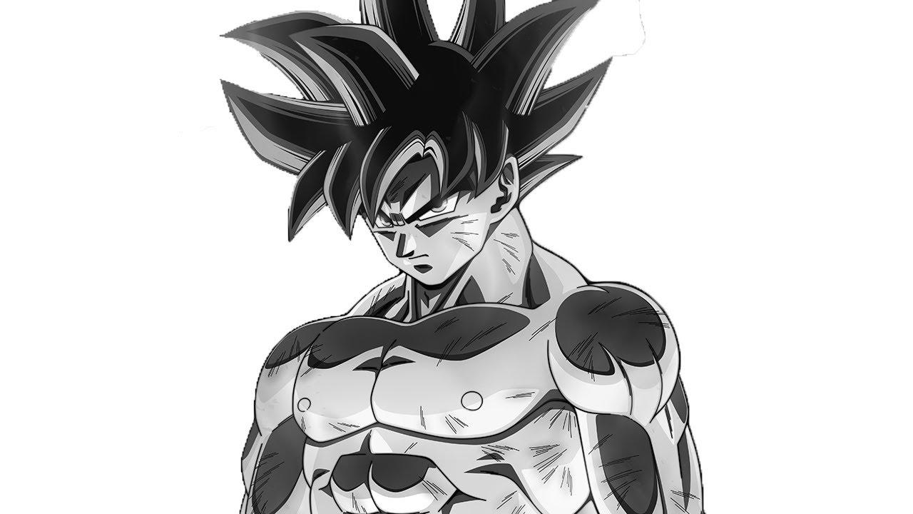 How to draw goku ultra instinct outline jd youtube - Goku ultra instinct sketch ...