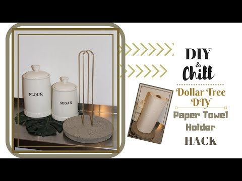 Dollar Tree DIY| Paper Towel Holder Hack