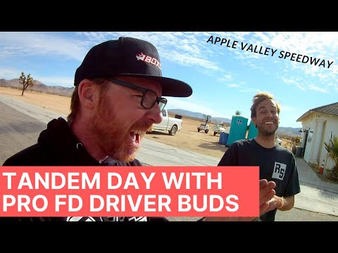 Tandem Practice Day with Pro Formula D buds at Apple Valley Speedway