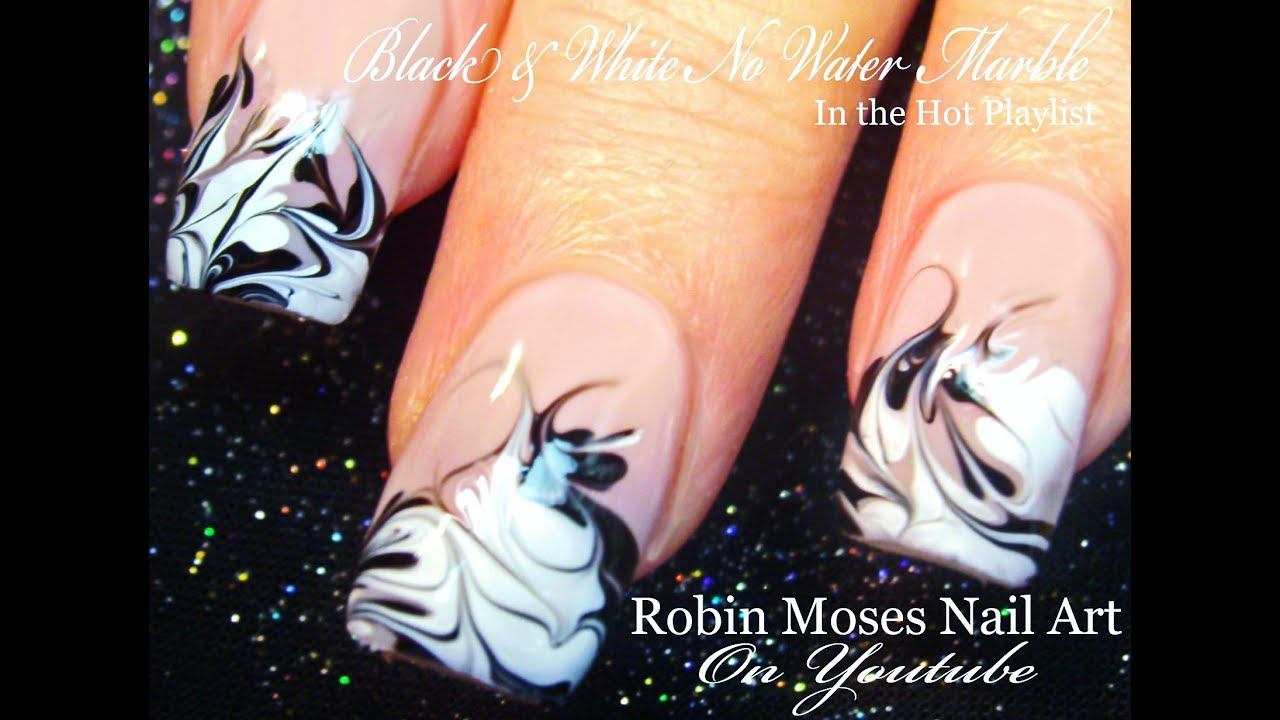 No Water Needed Marble Nail Art Tutorial Youtube