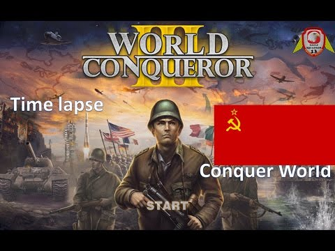 World Conqueror 3 Conquest World Soviet-Union 1943 Time-lapse [HD]