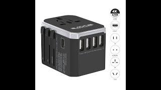 iBlockcube Travel AC Power Plug Adapter & Power Strips with USB ports