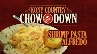 Kony Country Chow Down | Shrimp & Scallop Pasta Alfredo At Rib & Chop House | Ep. 11