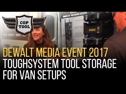 Dewalt ToughSystem Tool Storage for Van Setups - Dewalt Media Event 2017