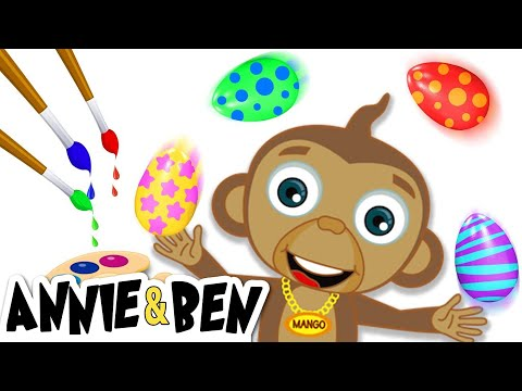 Painting Easter Eggs with Annie, Ben and Mango | Easter DIY Gifts and Easter Eggs Surprise for Kids!