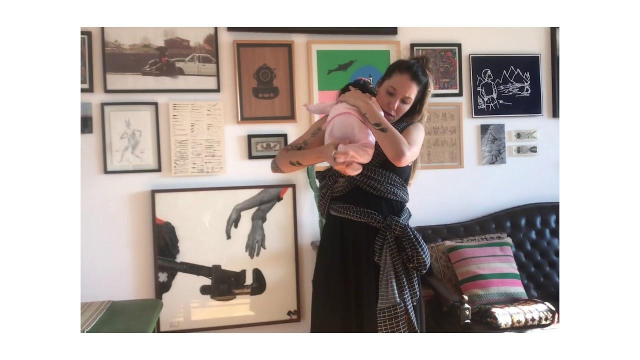 Camie Sling - Tutorial Canguru  (para Recém-Nascido, usar a mesma amarração da Posição Abraço)