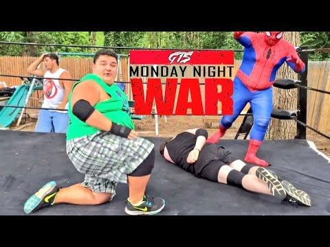 FATTEST GREEN BLOB WRESTLER EVER CHALLENGES FOR GTS WRESTLING CHAMPIONSHIP MATCH!