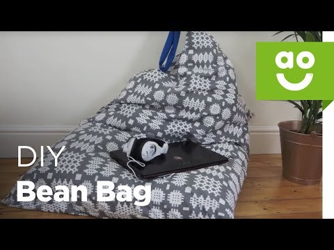 How to make a bean bag chair without sewing